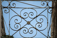 Metal ornament of balcony Stock Images