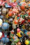 Metal ornamental fish. Asian style metal ornamental fish stock photos
