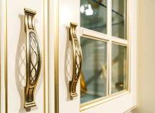 Metal ornate handle Stock Photo