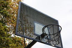 Metal Outdoors Park Basketball Court Backboard Net Chain  Stock Images