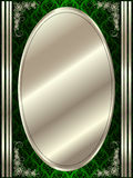 Metal oval frame with decorative elements Stock Images