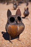 Metal owl ornament Royalty Free Stock Photo