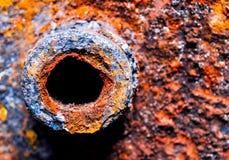Metal, oxidação, corrosão, tambor, recipiente fotos de stock royalty free