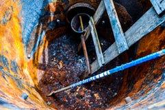 Metal, oxidação, corrosão, tambor, recipiente foto de stock