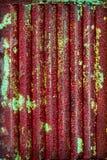Metal oxidado acanalado Imágenes de archivo libres de regalías