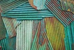 Metal oxidado del hierro acanalado Imagenes de archivo