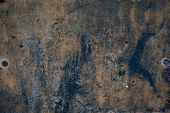 Metal oxidazed áspero da superfície do ferro do grunge velho fotos de stock royalty free