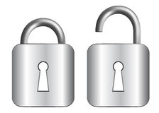 Metal padlock Royalty Free Stock Photos