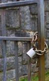 Metal padlock and chain Stock Photos