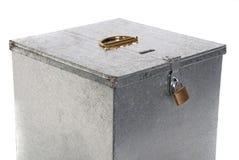 Metal padlock closure Royalty Free Stock Photo