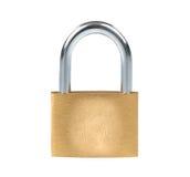 Metal padlock and fingerprint Royalty Free Stock Image