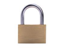 Metal padlock isolated on white background Royalty Free Stock Photo