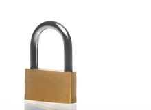 Metal padlock with space for text Royalty Free Stock Photography