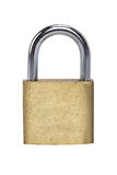 Metal padlock on white background Stock Images