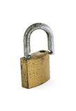 Metal padlock. On white background Stock Images
