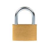 Metal padlock on white background Royalty Free Stock Photo