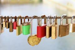 Metal padlocks Royalty Free Stock Photo