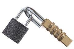Metal padlocks Stock Photography