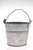 Metal pail. On white background Royalty Free Stock Image