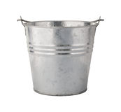 Metal Pail with a Clipping Path Royalty Free Stock Image