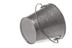 Metal Pail Isolated royalty free stock photography