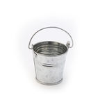 Metal pail Stock Photo