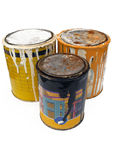 Metal paint cans royalty free stock images