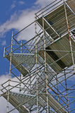 Metal Painters Scaffolding. Metal Scaffolding used by painters and roof repairmen Royalty Free Stock Photo