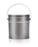 Metal painting Pail. Isolated on white, (clipping work path included royalty free stock photography