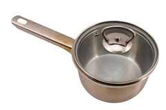Metal pan with a cover. Stock Image