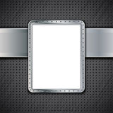 Metal panel on dark metallic background Royalty Free Stock Photos