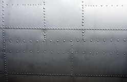 Metal paneling of a Vintage Aircraft Royalty Free Stock Photography
