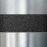 Metal panels over black plastic background 3d illustration. Metal panels over black plastic background Stock Images