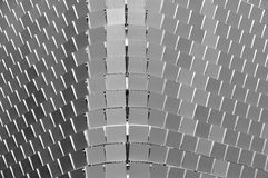 Metal panels on a public carpark Royalty Free Stock Images