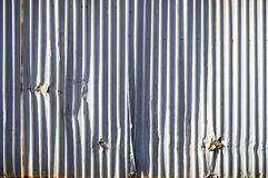 Metal panels wall Royalty Free Stock Image