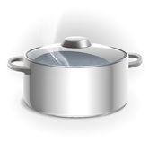 Metal pans. cooking Stock Photography
