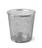 Metal paper bin isolated Stock Photo