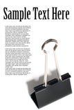 Metal paper clip Stock Photo