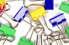Metal paper clip Stock Photo