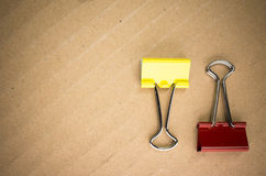 Metal paper clips Royalty Free Stock Photo