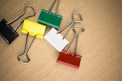 Metal paper clips Stock Photo