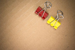 Metal paper clips Royalty Free Stock Images