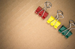 Metal paper clips Stock Images
