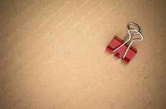 Metal paper clips Stock Image