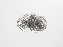 A metal paperclip Royalty Free Stock Photography