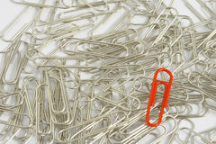 Metal paperclips Stock Photography