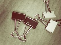 metal papierowe klamerki Fotografia Stock