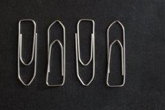 metal papierowe klamerki zdjęcia stock