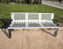 Metal Park bench Royalty Free Stock Images