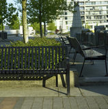 Metal Park Benches Royalty Free Stock Photography